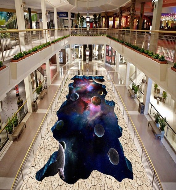 3D Purple Galaxy Planet 0926 Floor Wallpaper Murals Self Adhesive Removable Kitchen Bath Floor Water