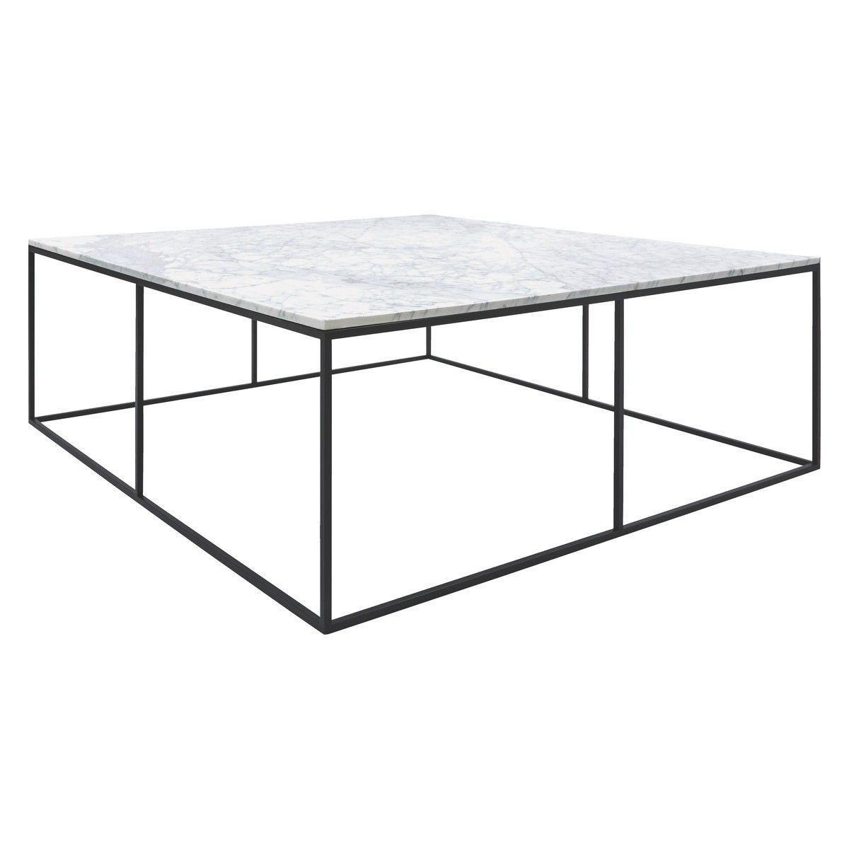 nestor large square marble coffee table