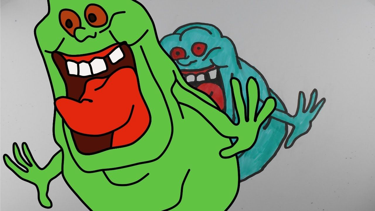 How To Draw Slimer From Ghostbusters Mr Cute Cartoon Drawing Club