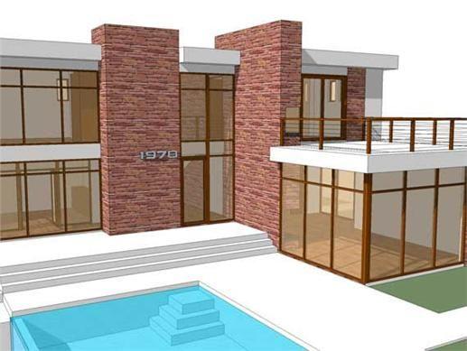 This Modern House Plan Is A 70s Retro Modern Featuring An
