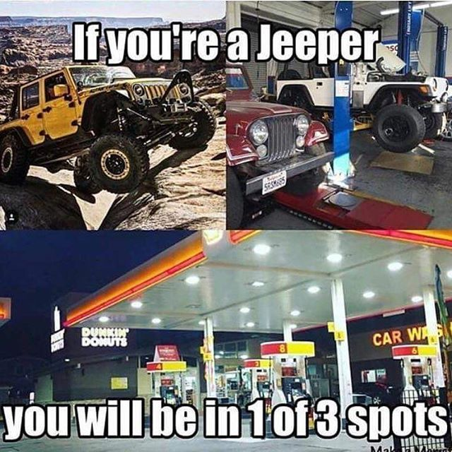 Gas Station Most Of All Jeep Memes Jeep Yj Jeep Owners