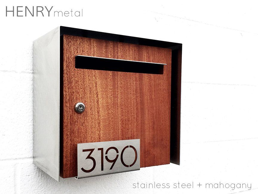 The Modern Mailbox Collection In 2020 Custom Mailboxes Modern Mailbox Wall Mount Mailbox