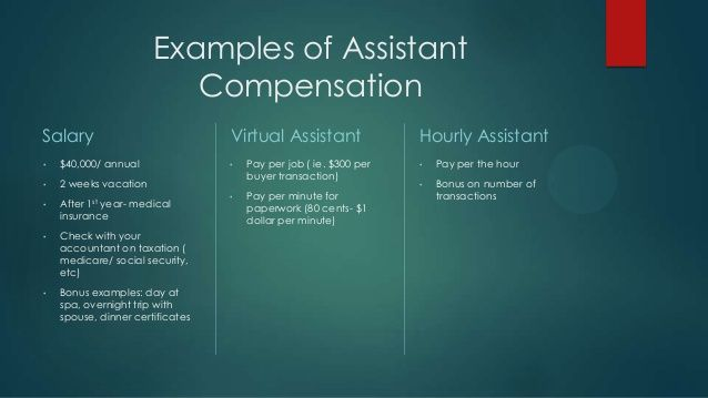 Examples of Assistant Compensation Salary \u2022 $40,000/ annual \u2022 2 - podiatric medicine resume example