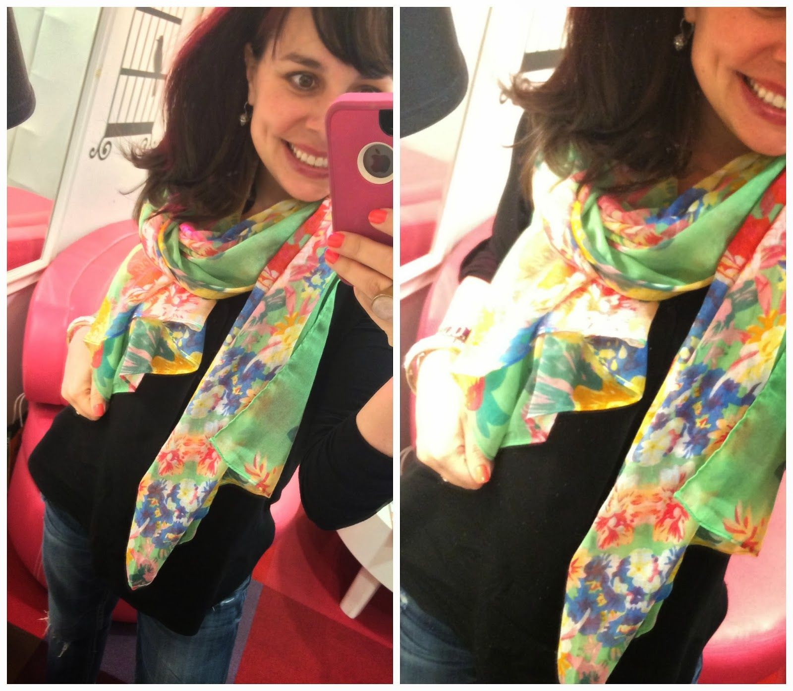 I'm telling you, you need this floral scarf!  So light and springy!
