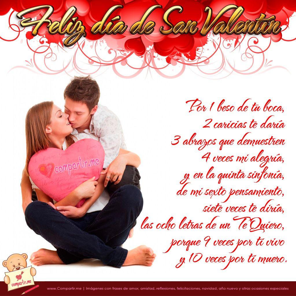 Poemas De San Valentin Diseño De Parejas De Enamoradas Y Poema De