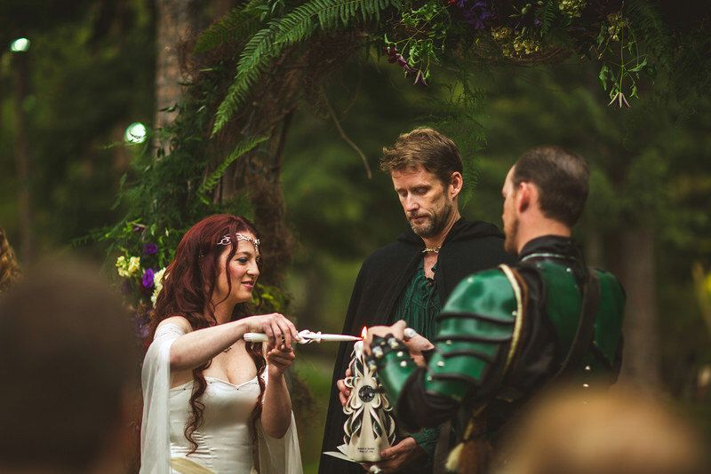 Geek lord of the rings wedding ceremony