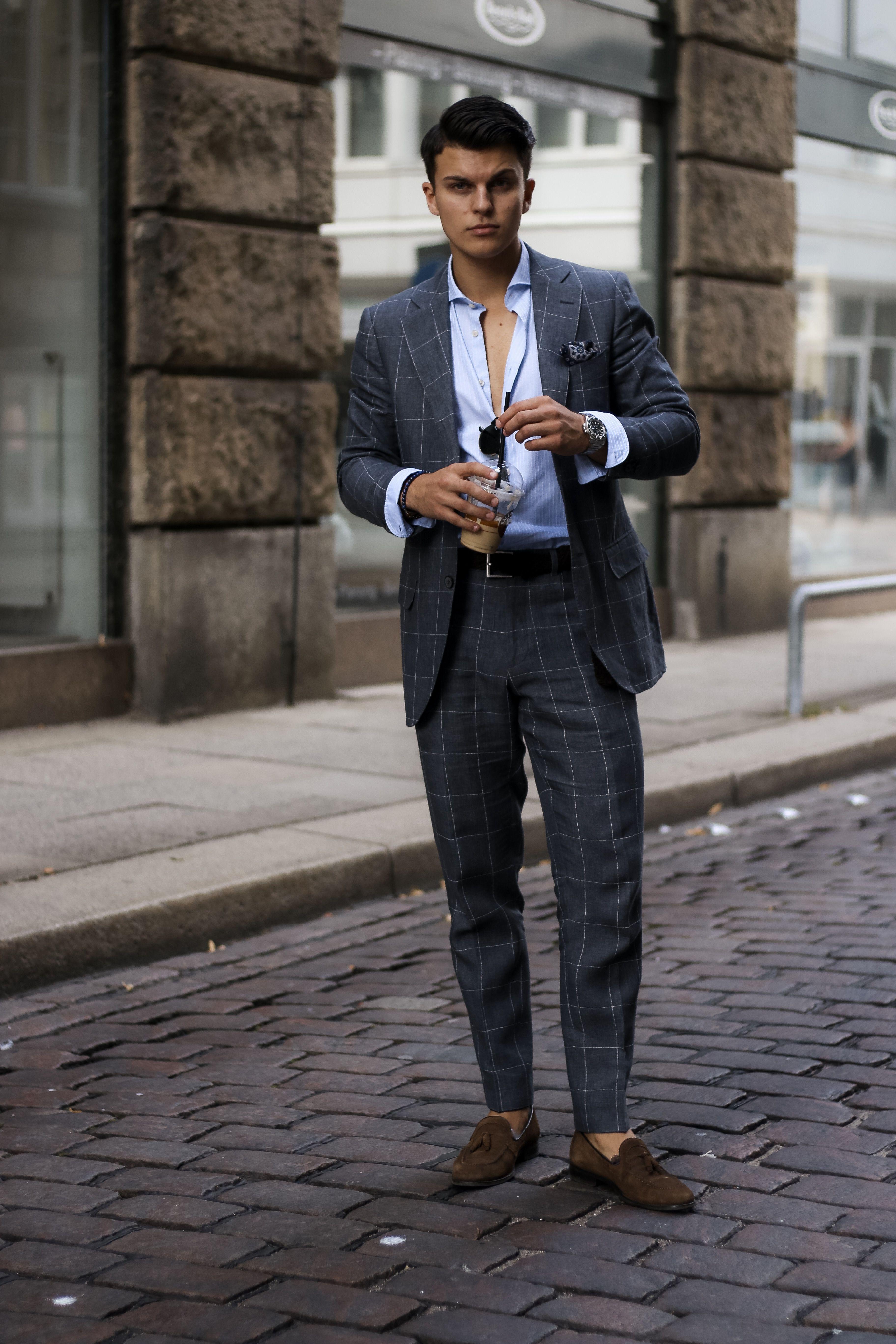 Summer Suit Style | Street-styles für herren, Lässige