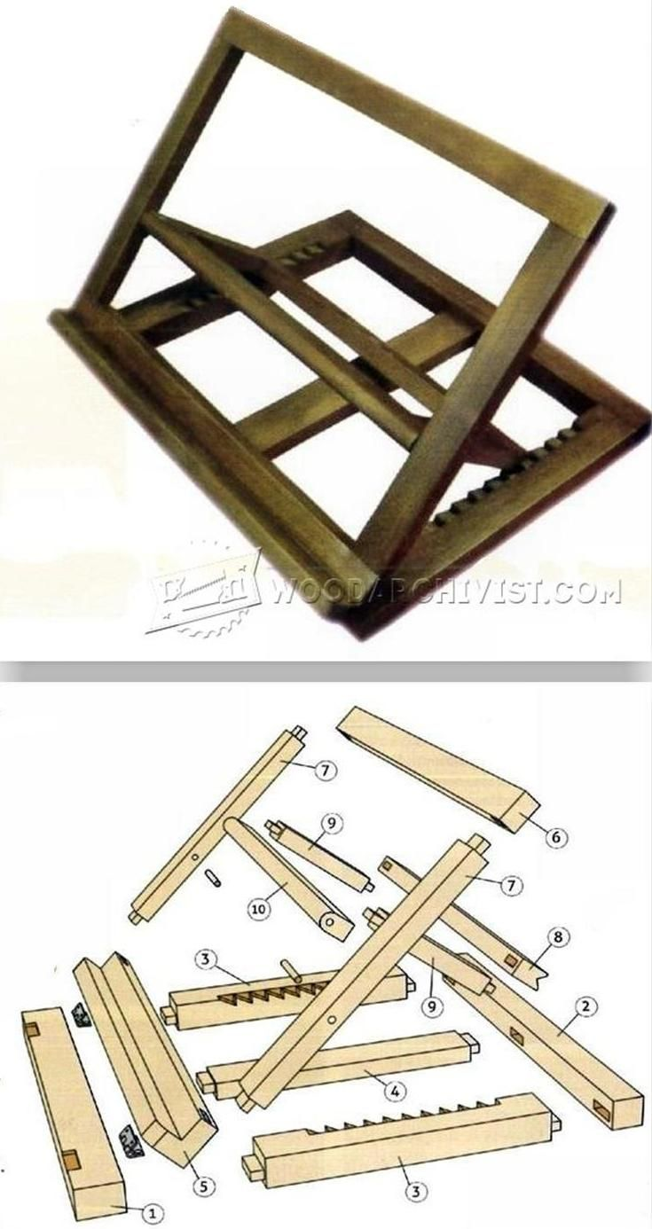 folding book stand plans - woodworking plans and projects