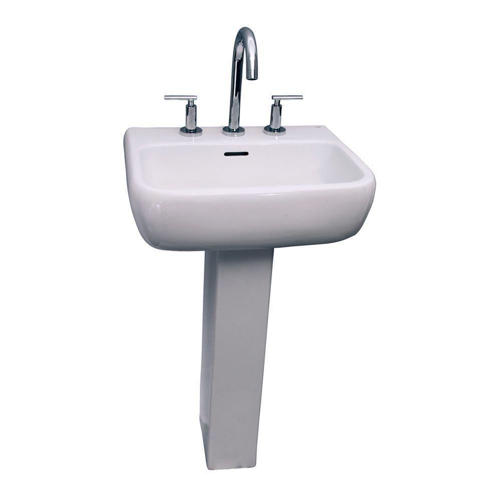 Barclay Products Metropolitan 600 Pedestal Combo Bathroom Sink In