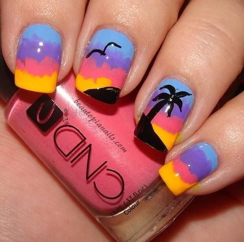 Hawaiian nail art - Hawaiian Nail Art Nails Pinterest Hawaiian Nail Art, Hawaiian