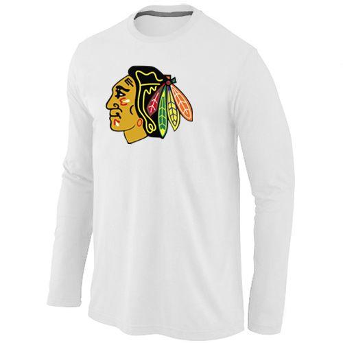 963663d1e NHL Chicago Blackhawks Big & Tall Logo Long Sleeve T-Shirt - White ...
