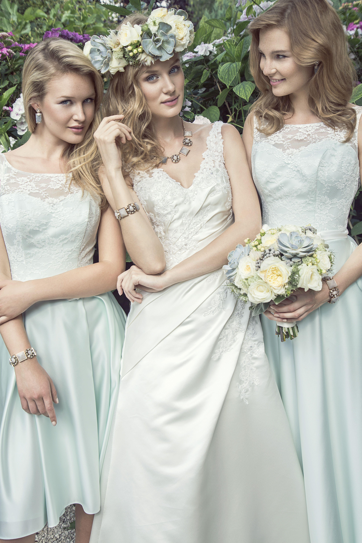 Wunderbar Weiß Und Rosa Kleider Brautjungfer Bilder - Hochzeit Kleid ...