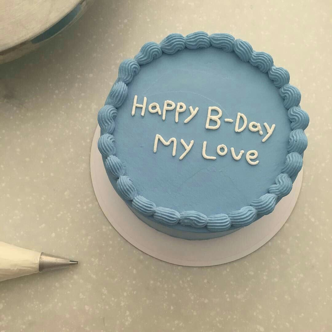Korean Cake Happy Birthday Icing Aesthetic Korean Yummy
