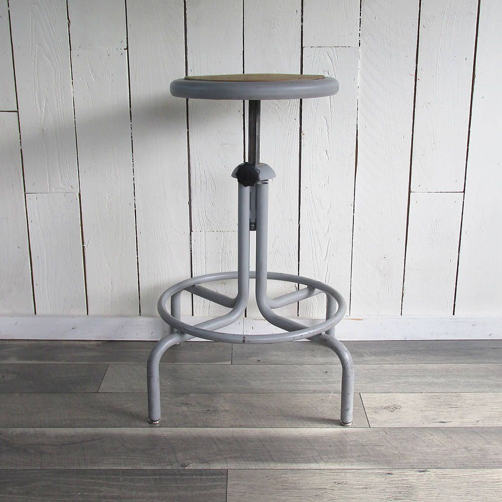 Mid Century Industrial Style Drafting Stool, Drafting Chair, Adjustable  Height By Leapinglemming On Etsy