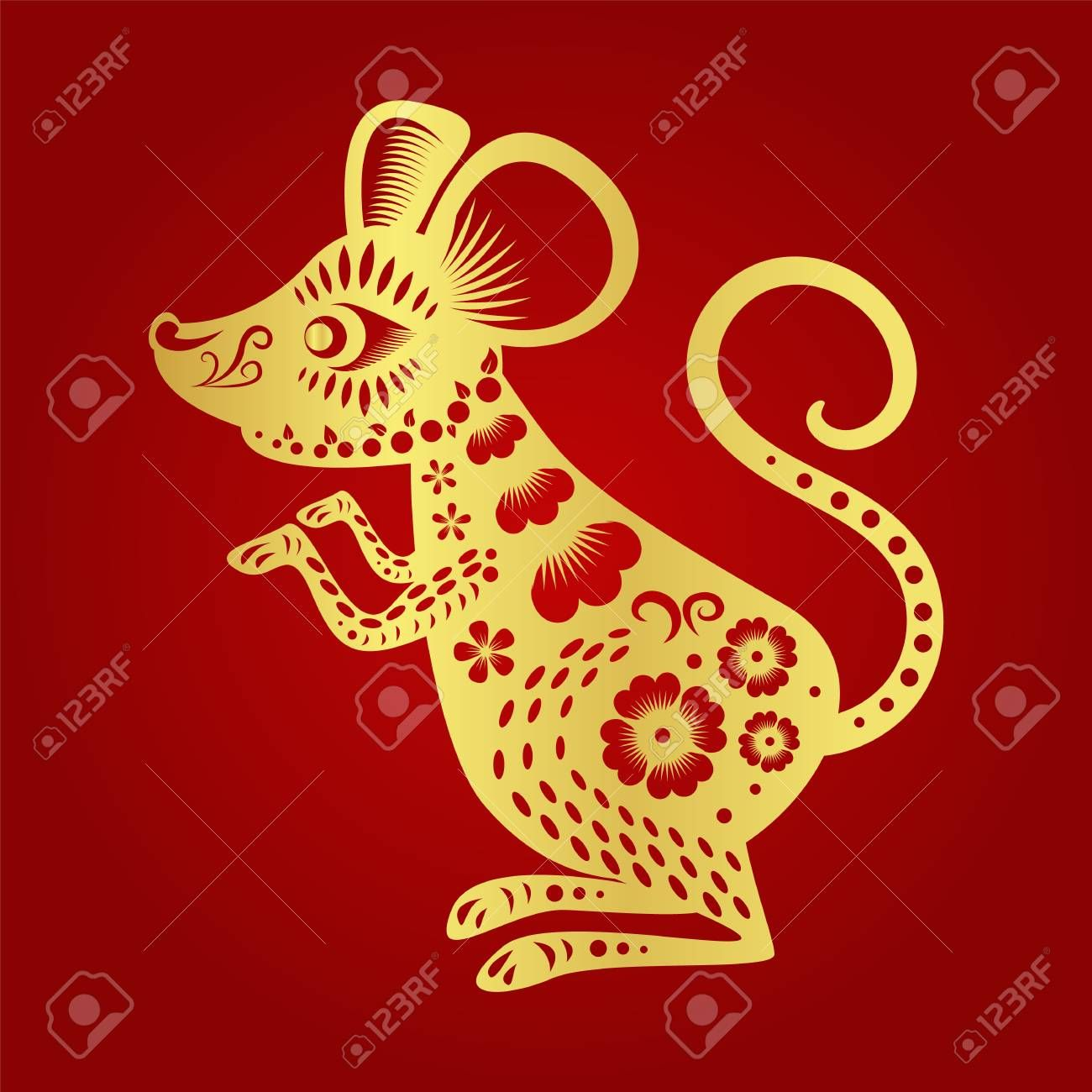 Happy chinese new year 2020 , year of the rat , sponsored