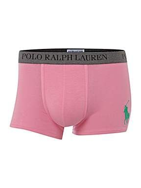Polo Ralph Lauren light pink boxer briefs.