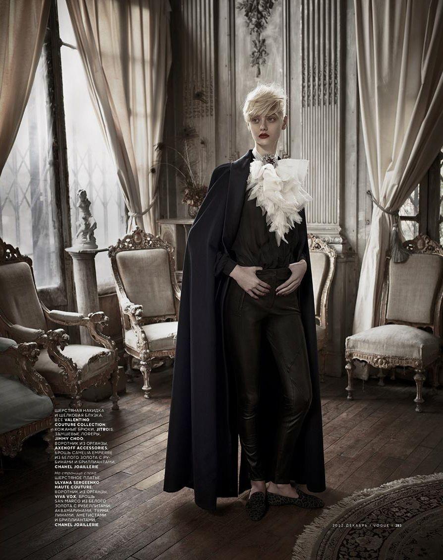 Oh My Lord! | Nastya Kusakina | Mariano Vivanco #photography | Vogue Russia December 2012