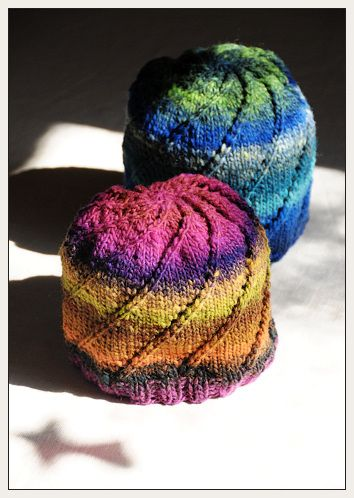Noro spiral one skein hat - simple but yet so pretty