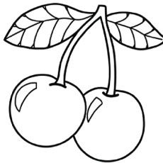 cherry coloring pages Top 10 Free Printable Cherry Coloring Pages Online | שבועות  cherry coloring pages