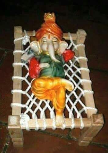 Sleeping Ganesha With Images Baby Ganesha Ganesh Images Ganesh Wallpaper