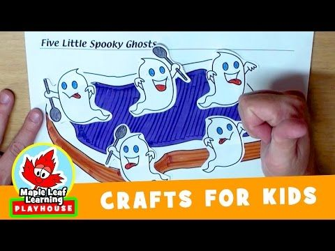 spooky ghost halloween craft for kids maple leaf learning playhouse youtube - Youtube Halloween Crafts