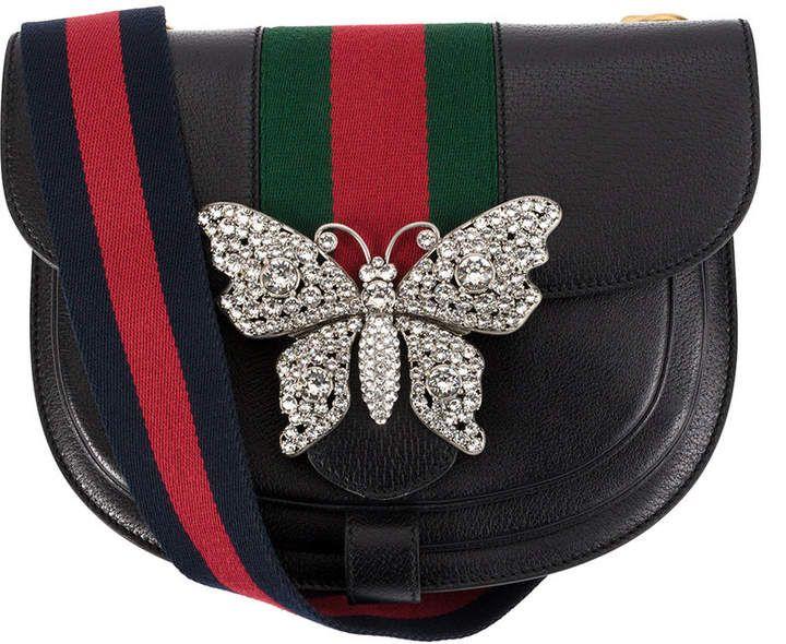 27900334b2c28 Gucci embellished shoulder bag ~ETS  butterfly