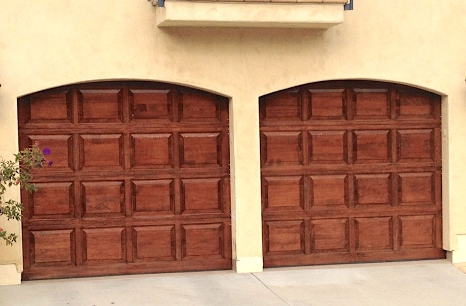 Double Car Residential Garage Door In Chestnut Color By Town