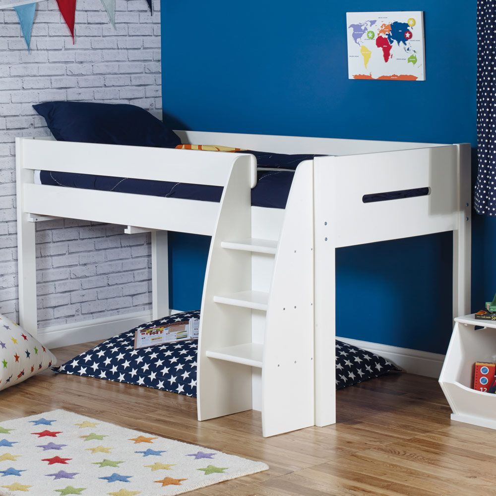 Tate Mid Sleeper Ivory Single Beds Mid Sleeper Bed