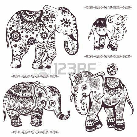 Pin de Anna Vega-Stubblefield en Tattoo idea   Pinterest   Elefante ...