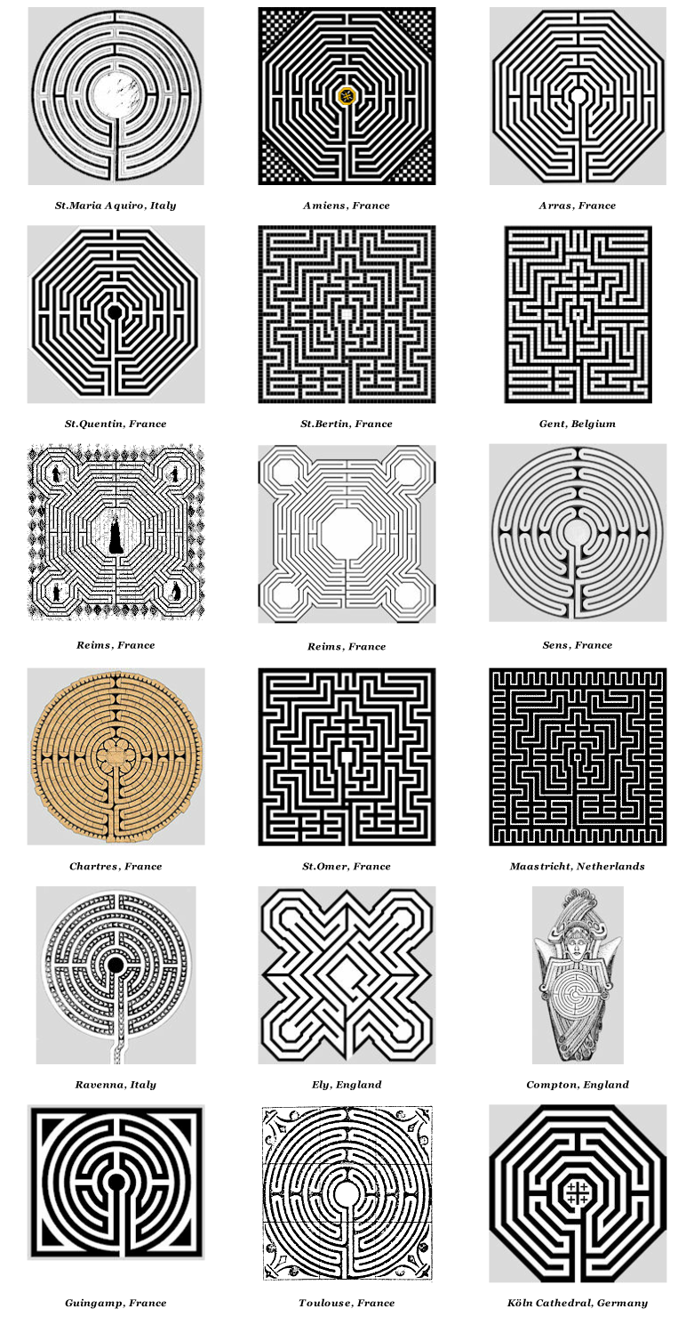 Church & Cathedral Labyrinths - Graphics | Labyrinth Garden Ideas ...