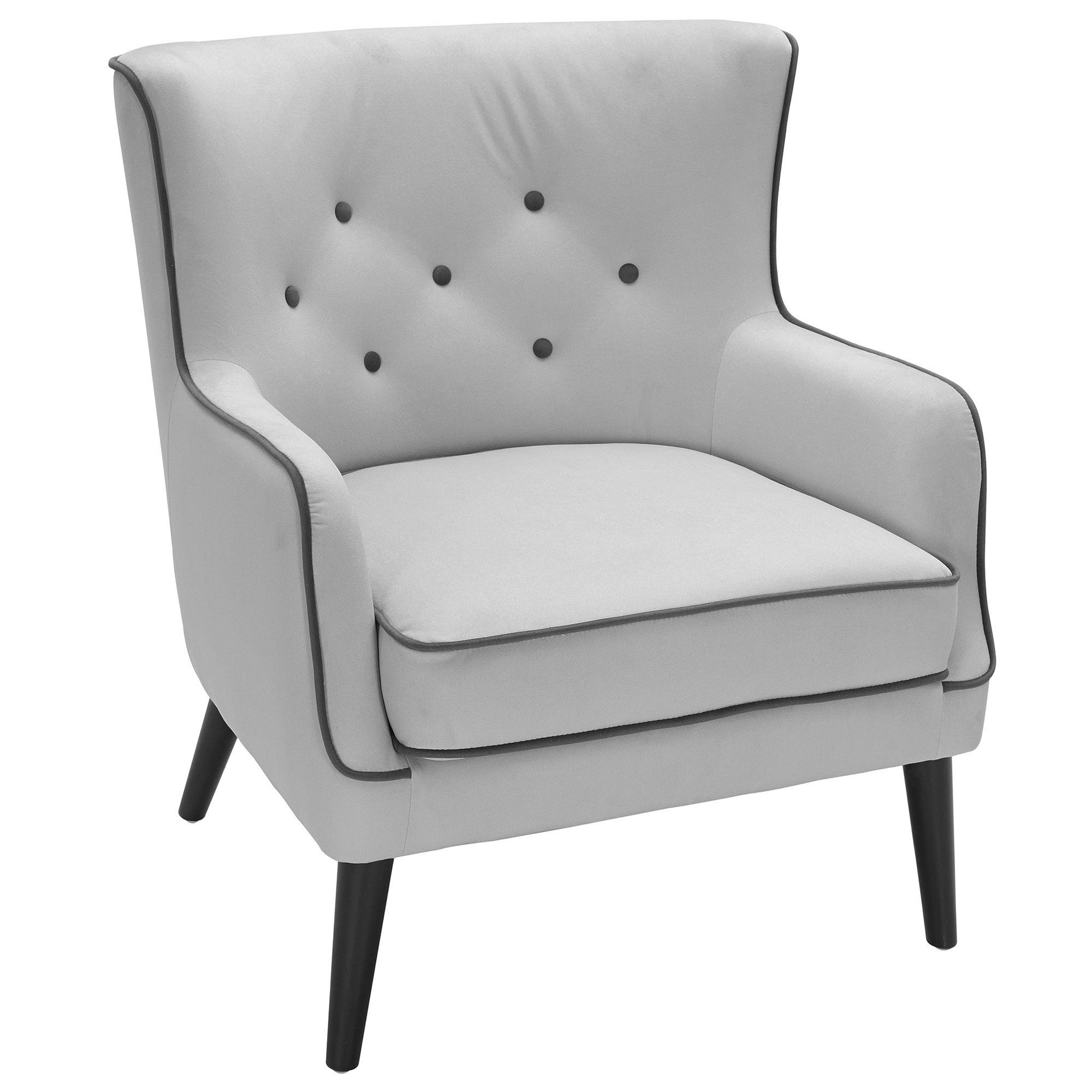 Sedgwick Accent Chair Mid Century Modern Accent Chairs Grey