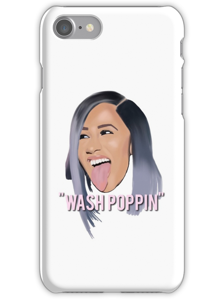premium selection 6d574 ebc53 Cardi B Wash Poppin iPhone 7 Snap Case | Products in 2019 | Phone ...