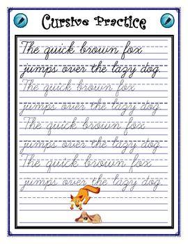 cursive practice sentence writing cursive writing practice sheets cursive handwriting. Black Bedroom Furniture Sets. Home Design Ideas