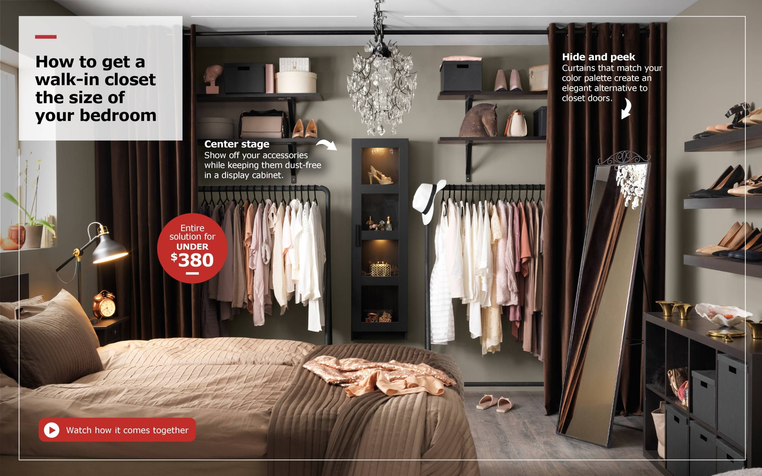 Make a closet where there isnut one Bedroom Inspo Pinterest
