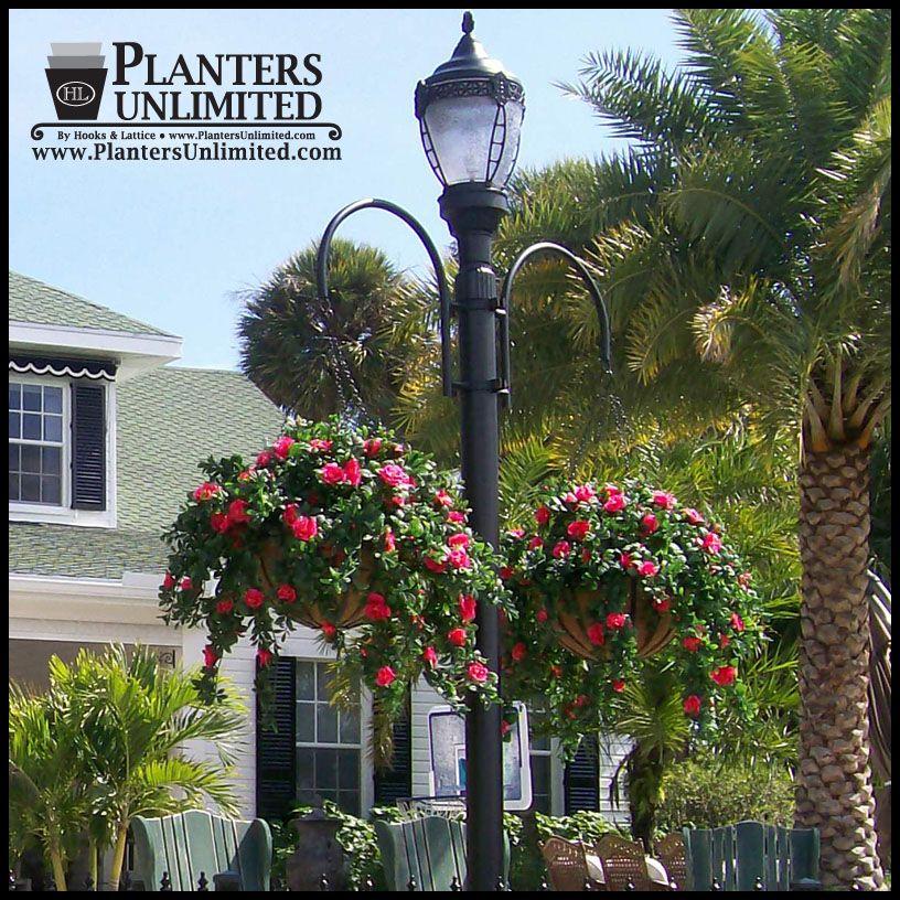 Flower Basket Hanging Brackets : Two way hook style hanging basket bracket best planters