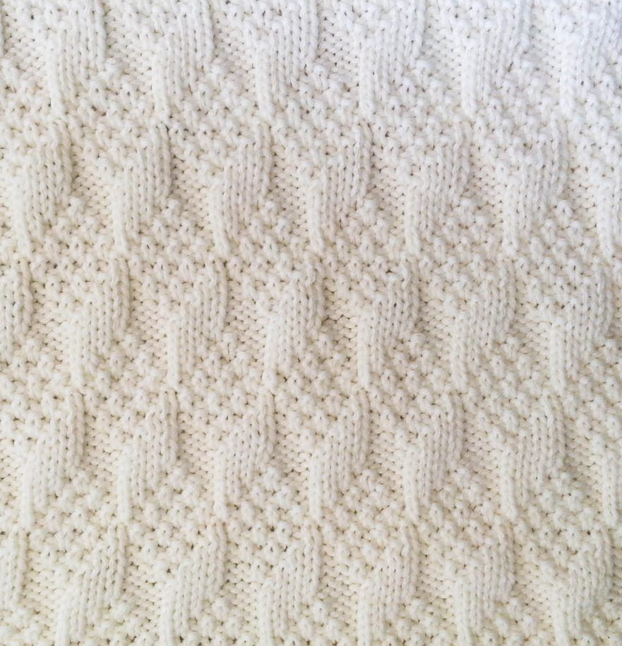 Knitting Pattern For Diamond Texture Reversible Baby
