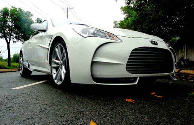 Aston Martin One LookAlike Crafted From Hyundai Genesis Coupe - Aston martin genesis