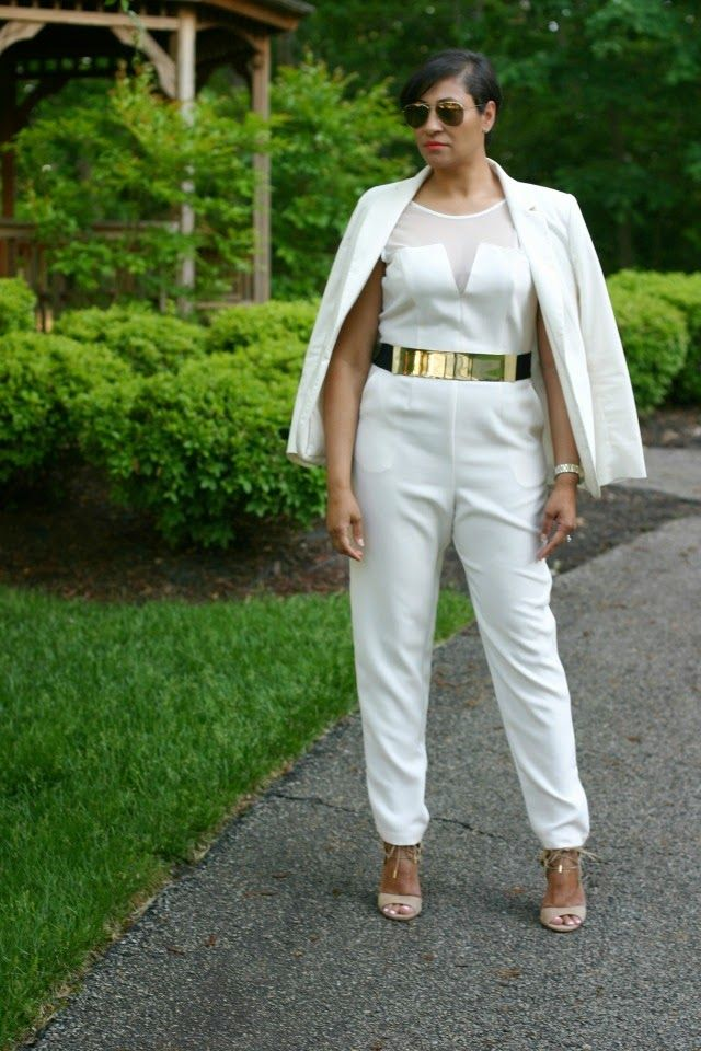 White and Gold Jumpsuits
