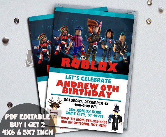 Roblox Birthday Invitation Digital Printable