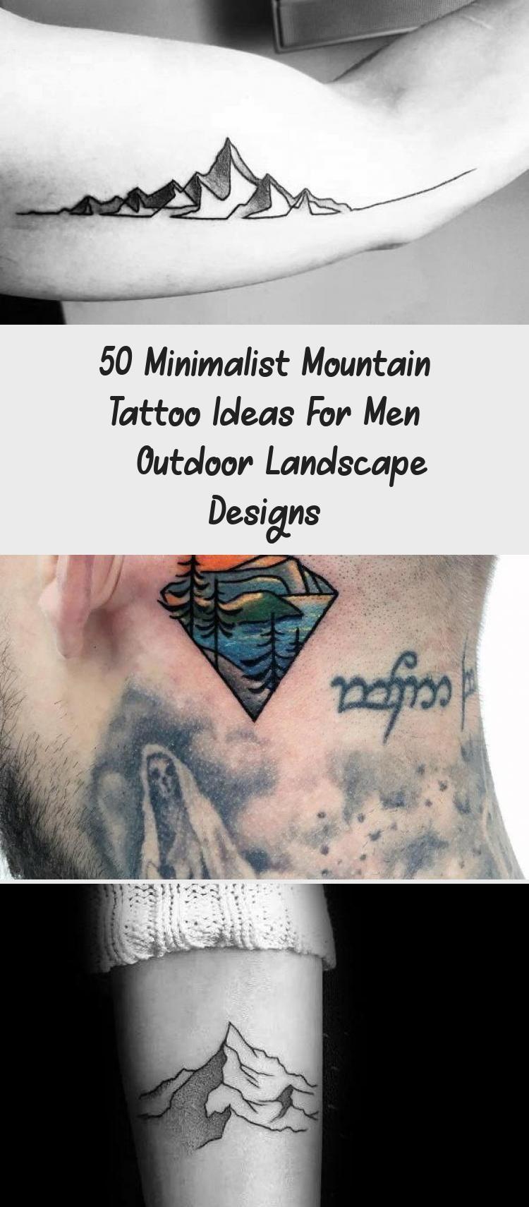 Photo of Amazing Mens Minimalist Mountain Tattoo Designs #minimalisttattooMountain #minim…