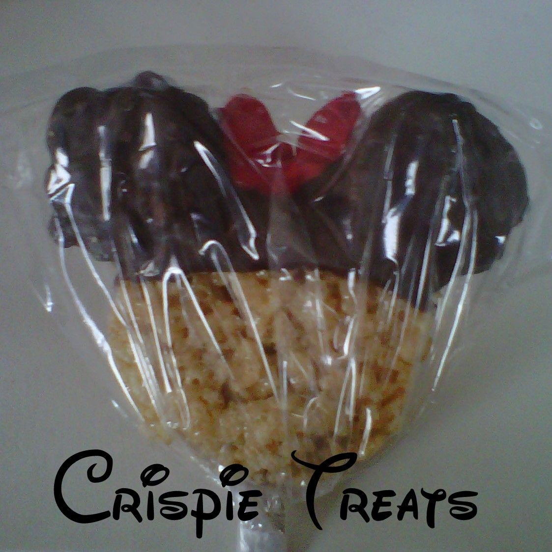 Minnie Mouse Rice Krispy Treat for party favor
