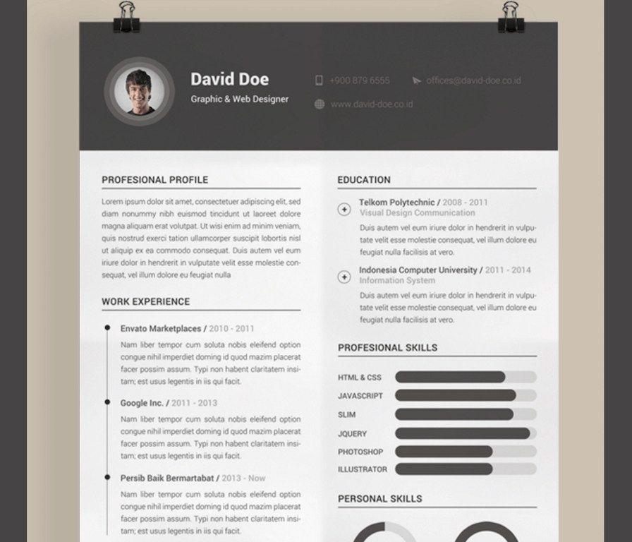 Awesome Cv Illustrator Template Free Idea cv template