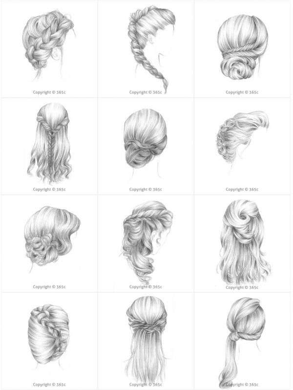 Mode des enfants Pencil art drawings, How to draw hair