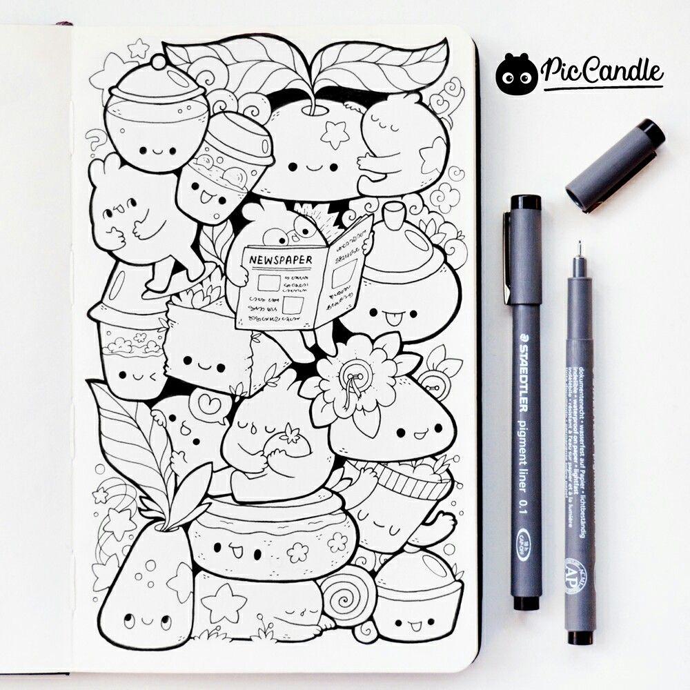 doodle by #piccandle | Doodles & Drawings | Pinterest | Doodles ...