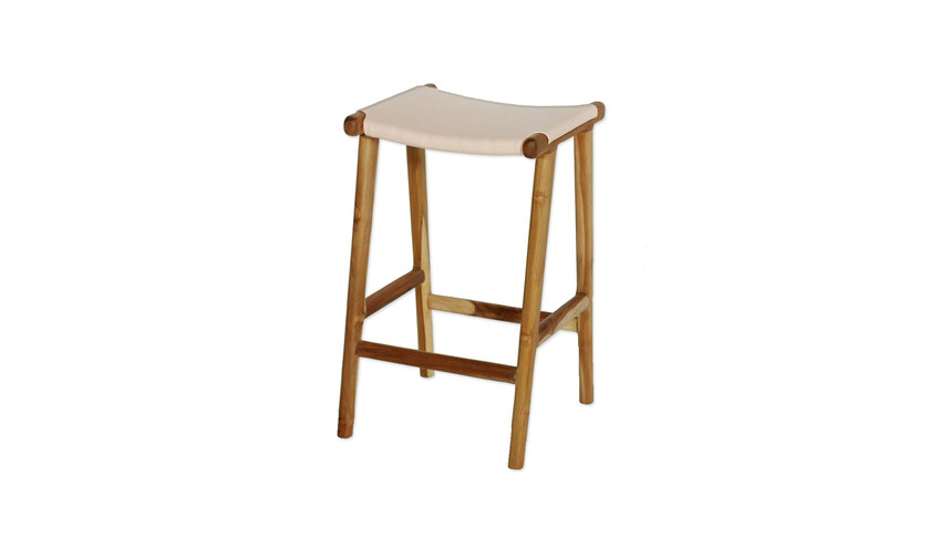 Sensational Williams Road Flat Leather Bar Stool Natural Blush Squirreltailoven Fun Painted Chair Ideas Images Squirreltailovenorg