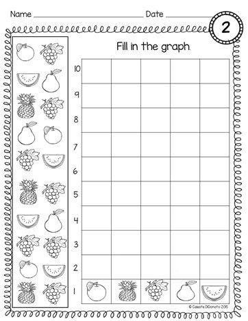 Count and Graph Kindergarten | Kindergarten math, Graphing ...