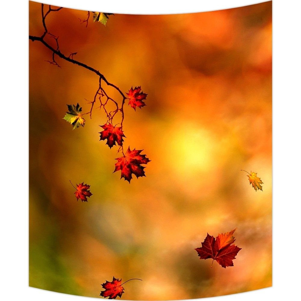 Autumn Maple Leaf Wall Art Tapestries Home Decor Wall Hanging Tapestry 40x60 inch