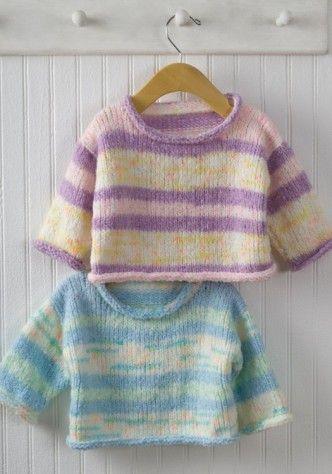 Easy Baby Pullover Sweater Knitting Pattern Knitting Pinterest