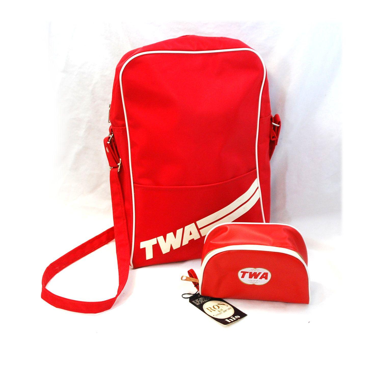 70s TWA Flight Bag Bag set, Bags, Twa