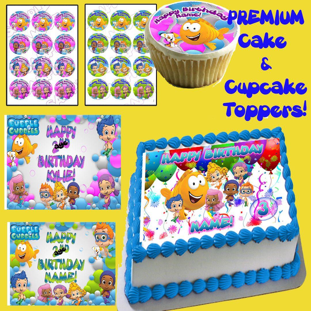 Bubble Guppies Sugar Edible Birthday Cake Topper Image